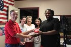 KVPI AM Intern Micah Chatman given going away gift