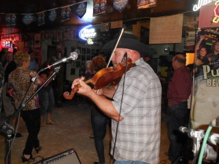 Mark Young sitting in for Henry Hample on Fiddle