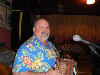Don Fontenot on the accordian